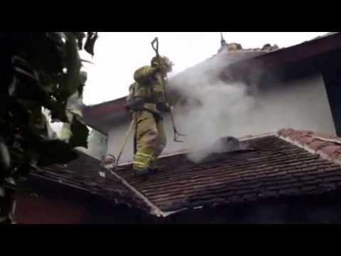OC Firefighters Work the Blaze at a Nellie Gail Home (2-19-14)