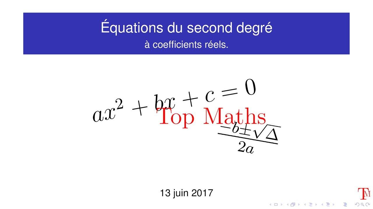 Equations du second degré - YouTube