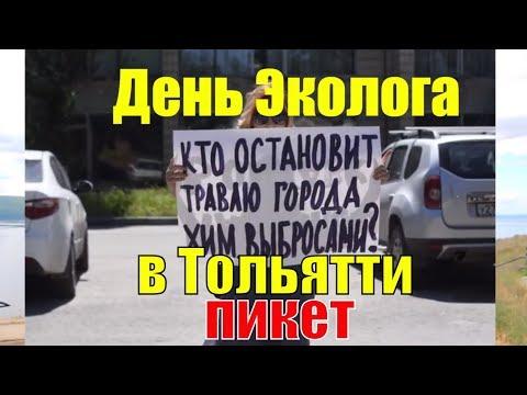Андрей Наумов о пикете на день Эколога в Тольятти | Пикет у здания администрации Тольятти