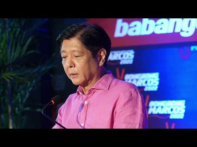 Former Senator Bongbong Marcos announces he will run for president in 2022