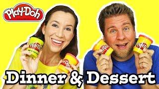 Play Doh Challenge - Dinner & Dessert