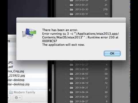 Australian e-tax 2013 for Apple Imac mac OSX problem  - error 230 please help