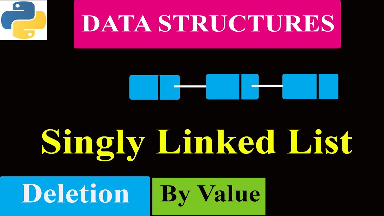 Delete Any Node By Value in Linked List | Delete At the End | Python Program