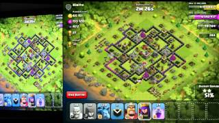 Clash of Clans - Advanced Deployment Tactics [Part 2] Four Finger Fighting
