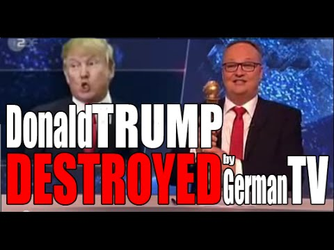 Donald Trump destroyed by German TV | ENG Subtitles