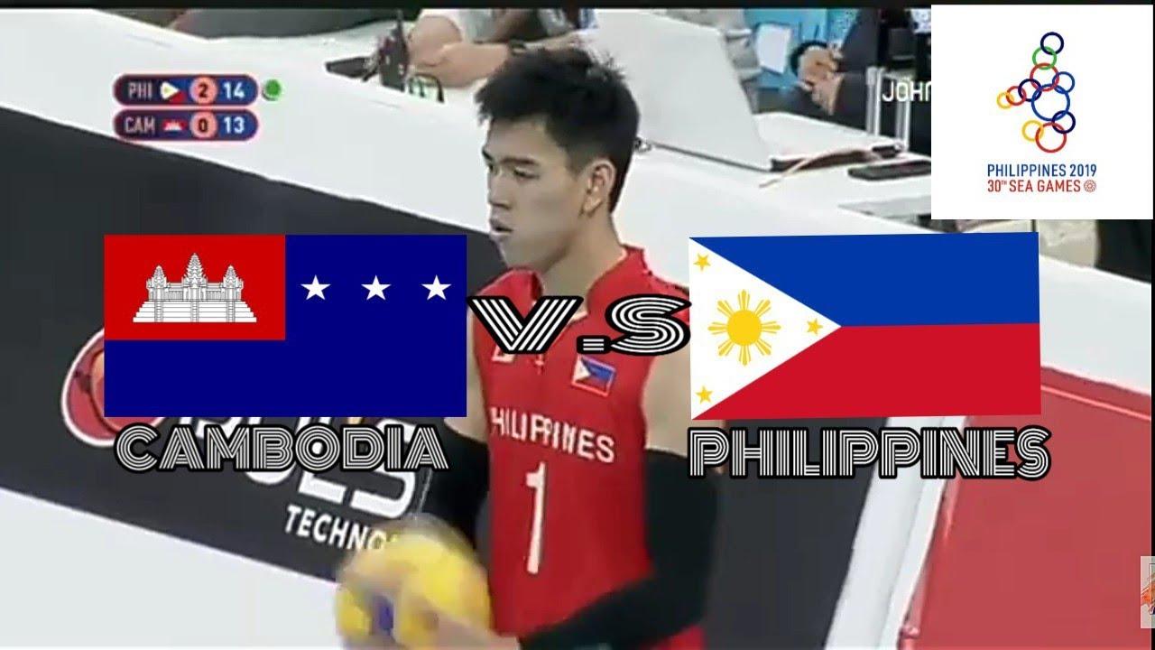 30th Sea Games Philippines Vs Cambodia Mens Volleyball