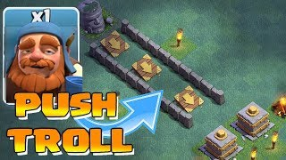 PUSH to CRUSHER TROLL!!! | Clash of clans | MAXED UPGRADES!!