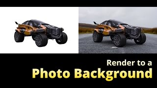 How to Render onto a Photo Background