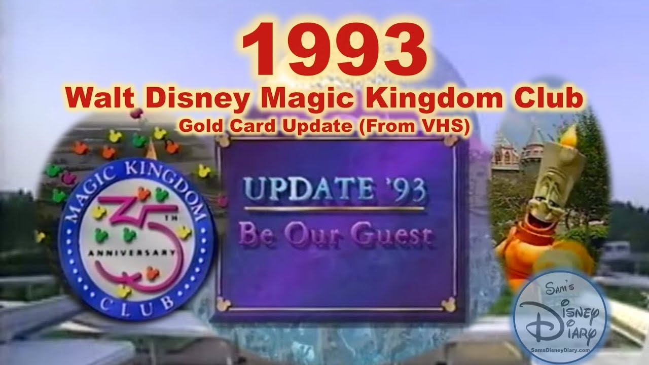 Disney Magic Kingdom Club 1993 Members Only Update From Vhs Sams Disney Diary