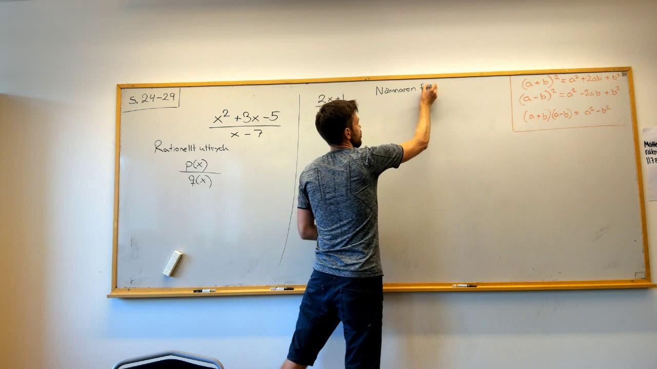 Matematik 3: Rationella uttryck: VAD ÄR DET? NÄR ÄR DET EJ DEFINIERAT? Del 1 av 2.