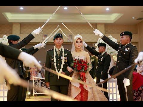 tradisi pernikahan pedang pora TNI-AD ody & subhan