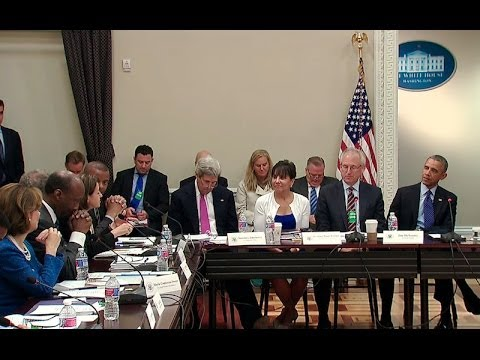 President Obama Joins a Meeting of the President