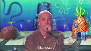 Eminem Rap God but with Spongebob Music