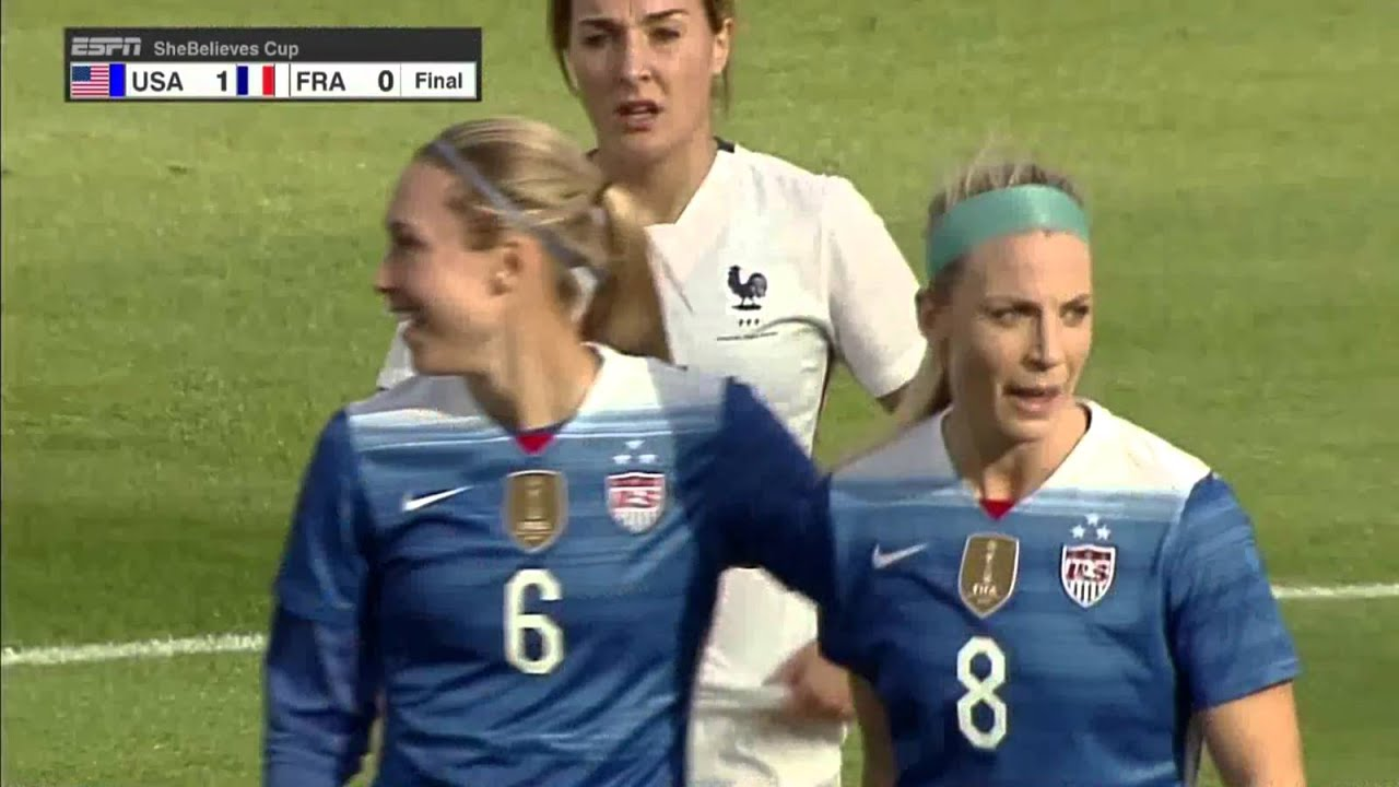 USWNT - Alex Morgan Stoppage Time Goal v. France (AMAZING Extended  Celebration) - March 6 b3f8ac935