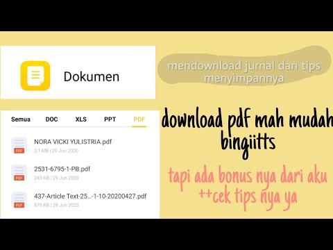 Tips Cari Simpan File Jurnal Yg Baik Google Cendekia Scholar Youtube