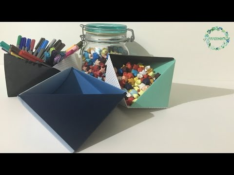How to make an Open Triangular Box | DIY | simple paper folding | Box #1