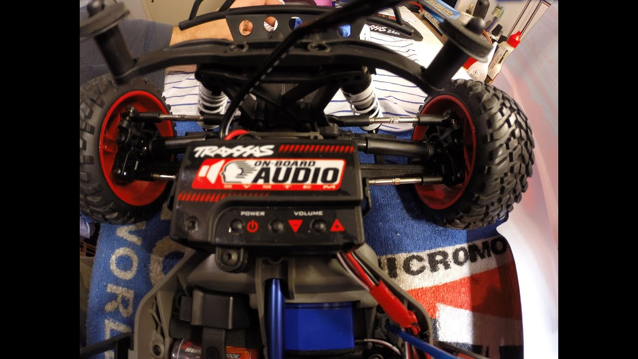 Traxxas Slash 4X4 board Audio System Test Audio System OBA