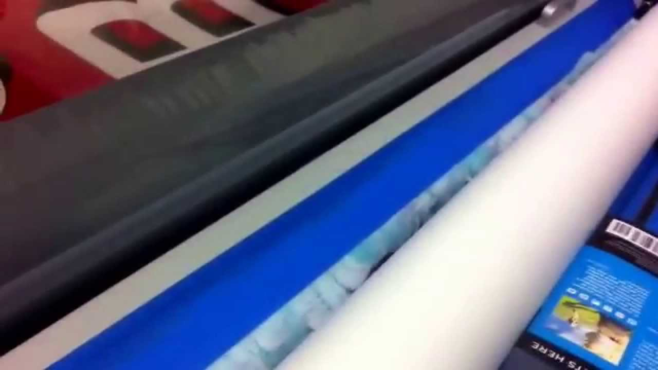 Laminating Translucent Vinyl Film For Backlit Sign Youtube
