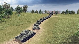 ENDLESS T-34 TANK WAVE SLAMS GERMAN INVASION | Men of War: Assault Squad 2 Gameplay