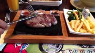 """Блюдо """"мясо на камне"""" www.godvbolgarii.ru"""