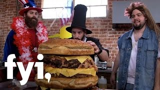 Epic Meal Empire: Making the All-American Burger  FYI