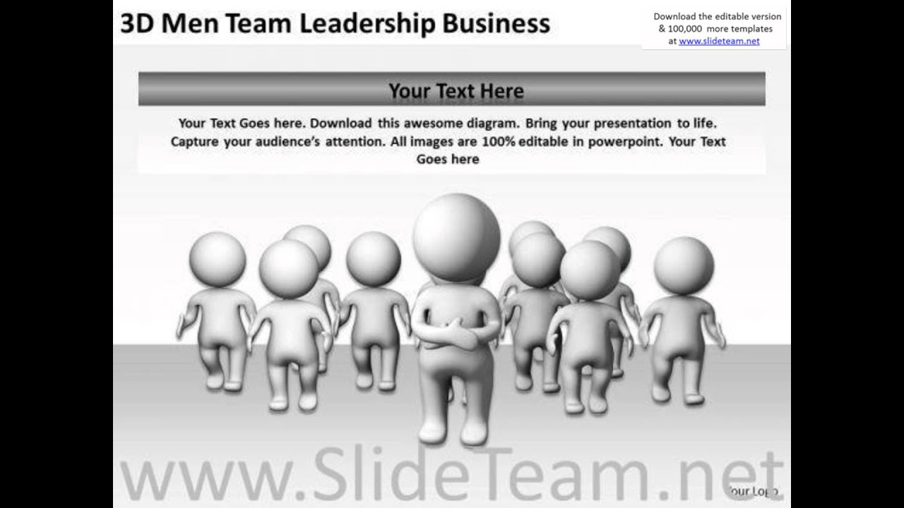 young business people team leadership powerpoint templates free, Modern powerpoint