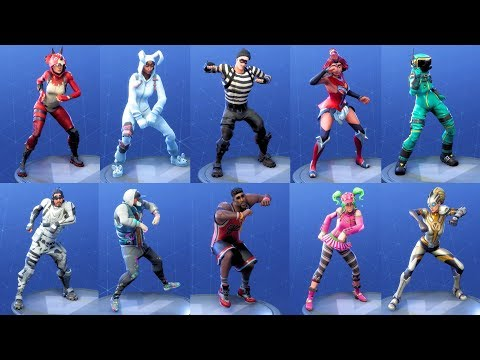 Fortnite 97 Costumes Perform RAMBUNCTIOUS Dance NEW Emote