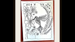 DIY HUMMINGBIRD COLORING PAGE, crafts for kids, learn to draw