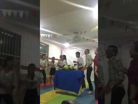 Teacher danching