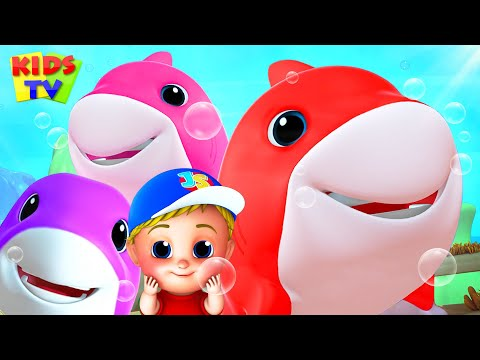 Laughing Shark   Baby Shark Song   Nursery Rhymes & Kids Songs   Junior Squad Cartoon