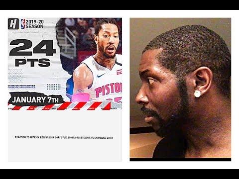 REACTION TO DERRICK ROSE CLUTCH 24PTS FULL HIGHLIGHTS PISTONS VS CAVALIERS 2019 NBA SEASON