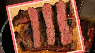 How to Cook Skirt Steak on the Stove in Cast Iron Skillet - Easy Beef Skirt Steak Recipe, NO Grill