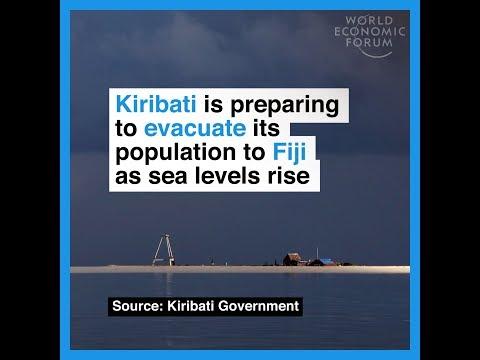Kiribati is preparing to evacuate its population to Fiji as sea levels rise
