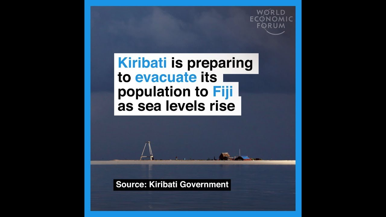 Kiribati is preparing to evacuate its population to Fiji as sea levels rise