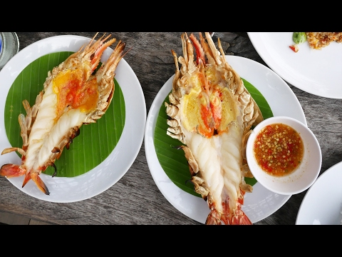 Ayutthaya Day Tour - HUGE Freshwater Shrimp in Thailand! เที