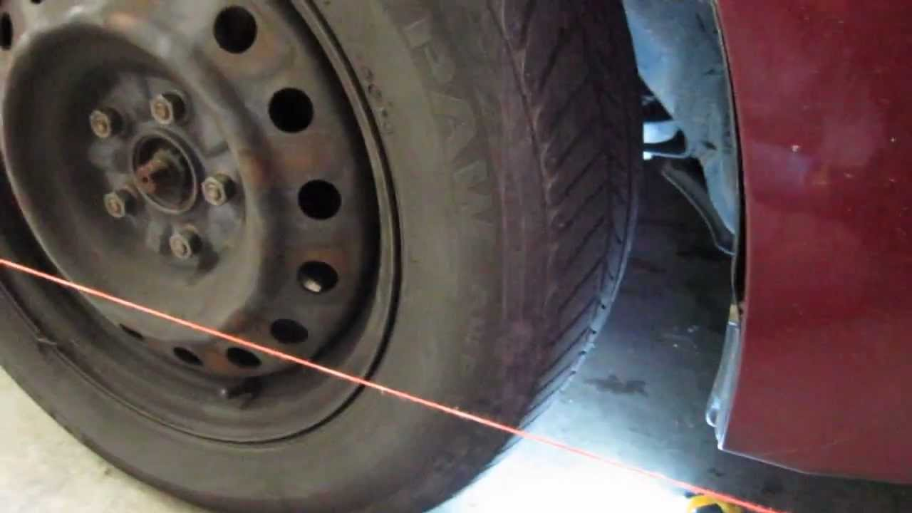 diy alignment setting toe with the string method youtube rh youtube com wheel alignment madison hts va wheel alignment madison hts va