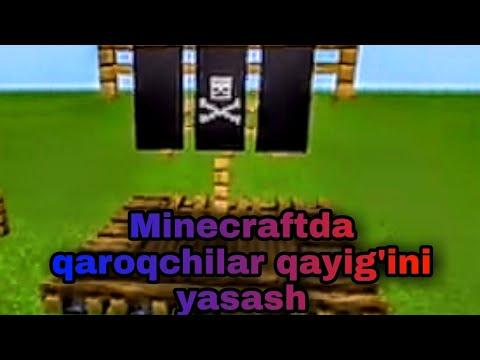 minecraft/minecraftda qaroqchilar qayig'ini yasash