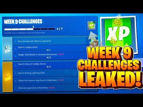 Fortnite Week 9 Challenges LEAKED! Fortnite Season 5 Battle Pass Week 9 ALL CHALLENGES GUIDE!