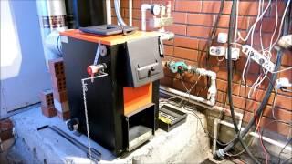 Установка пеллетной горелки в твердотопливный котел Куппер(, 2014-10-27T09:08:08.000Z)