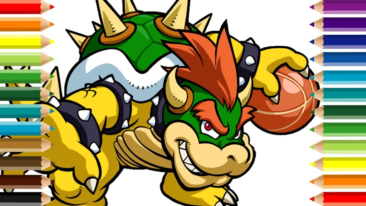 Bowser Basketball Super Mario Bros Coloring Pages For Kids