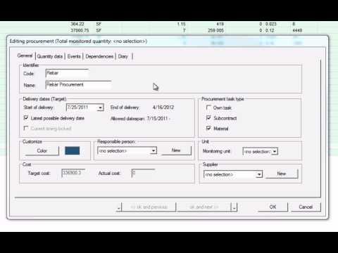 SP-L8-01 Creating Procurement Tasks in Vico Office Schedule Planner.avi
