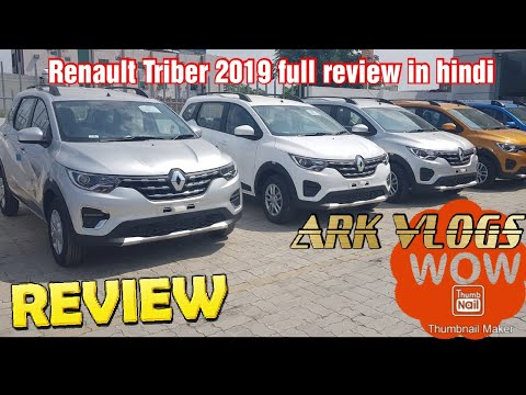 Renault Triber  Rxz 2019, 7 seater top modal Review, walk around feature in hindi by Ark vlogs