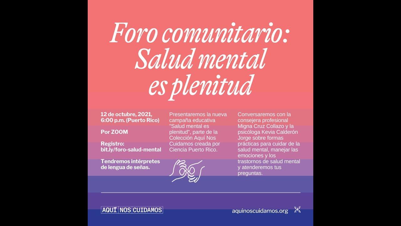 """Participación de la APPR en la Campaña de Ciencia PR """"Salud Mental es Plenitud"""""""