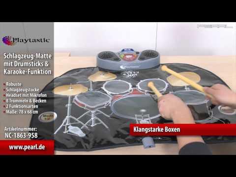 Schlagzeug-Matte mit Drumsticks und Karaoke-Funktion (refurbished)