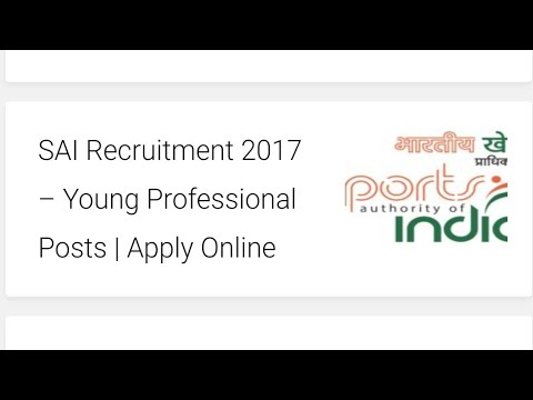 SAI Recruitment 2017 – Young Professional Posts | Government Job | Apply Online