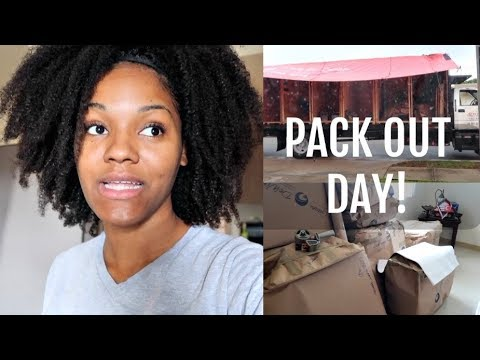 PACK OUT DAY 🙌| MILITARY FAMILY VLOGS | PCSING TO ALASKA