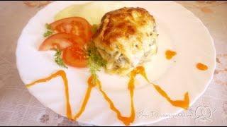 Сочная курица под шубой из картофеля, яиц и сыра