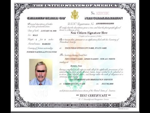 Petition for Naturalization Certificate for State Processing - YouTube