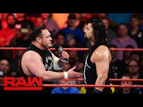 Roman Reigns reveals who he will battle at SummerSlam: Raw, June 19, 2017 thumbnail