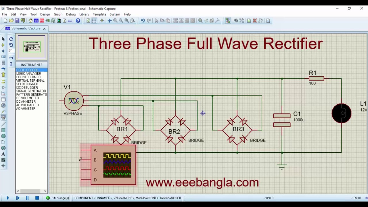 Three Phase Full Wave Rectifier Youtube Circuit
